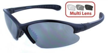 EVOLUTION EYEWEAR - QUEST 4 SERIES SHOOTING/SUNGLASSES INTERCHANGEABLE 4 LENS SET