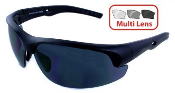 EVOLUTION EYEWEAR - STRIKE 4 SERIES SHOOTING/SUNGLASSES INTERCHANGEABLE 4 LENS SET