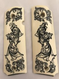 GOVERNMENT - FULL SIZE 1911 HANDGUN GRIP-FILIGREE