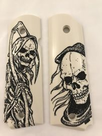 GOVERNMENT - FULL SIZE 1911 HANDGUN GRIP-GRIM REAPER
