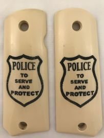 GOVERNMENT - FULL SIZE 1911 HANDGUN GRIP-TO SERVE AND PROTECT