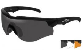 WILEY X ROGUE SUNGLASSES SMOKE GREY, CLEAR & RUST 3 LENS PKG BLACK MATTE