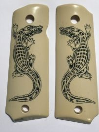 GOVERNMENT - FULL SIZE 1911 HANDGUN GRIP - REPTILE