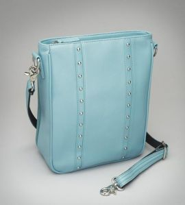 CONCEAL CARRY RETRO STRIPE/BLUE ICE LAMBSKIN CROSS BODYED