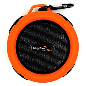 ENERPLEX OUTDOOR SPLASH BLUETOOTH SPEAKER - ORANGE / GREEN