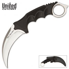 UNITED CUTLERY HONSHU KARAMBIT KNIFE SILVER W/ BOOT SHEATH