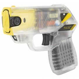 TASER- TASER PULSE + W/ LASER & 15-FOOT SHOOTING DISTANCE – CLEAR FINISH