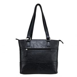 VISM LARGE FAUX LEATHER TOTE