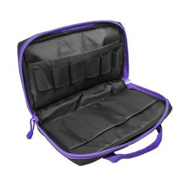Vism® By Ncstar® Discreet Pistol Case/Black W/Purple Trim