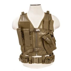 Vism® By Ncstar® Tactical Vest/Tan Xs-S