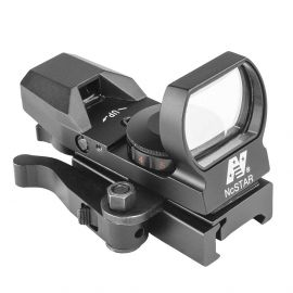 NCSTAR/VISM REFLEX SIGHT W/QR MOUNT & 4 RETICLES RED/GREEN