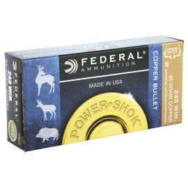 FEDERAL POWERSHOK 243 WIN 85 GRAIN 20 ROUND BOX