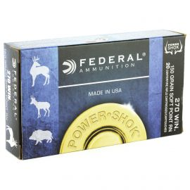 FEDERAL POWER SHOK 270WIN 150GR SOFT POINT RN 20/200