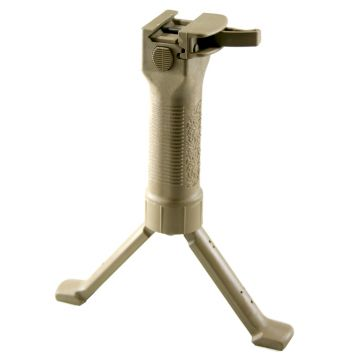 GRIP POD MILITARY VERTICAL FORWARD GRIP,CAM LEVER,STEEL REINFORCED LEGS,TAN FINISH