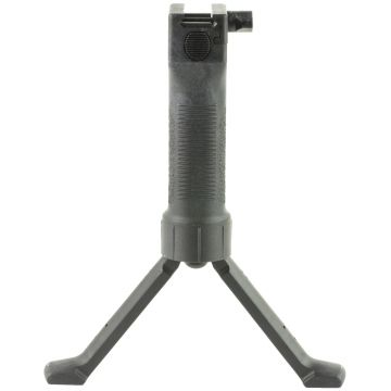 GRIP POD MILITARY VERTICAL FORWARD GRIP FITS PICATINNY STEEL REINFORCED LEGS, BLACK FINISH
