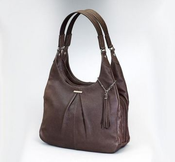 CONCEALED CARRY PLEATED SLOUCH HANDBAG