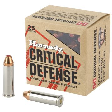 HORNADY 38 SPL+P 110GR CRITICAL DEFENSE 25/250