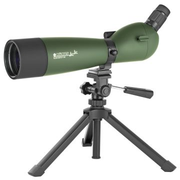KONUSPOT 20X-60X80 SPOTTING SCOPE GREEN W/ TRIPOD & SMART PHONE ADAPTER
