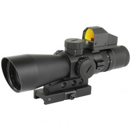 NCSTAR 3-9X42 SCOPE 42MM MIL-DOT LENS W/ MICRO RED DOT 3 MOA