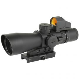 NCSTAR 3-9X42 SCOPE 42MM P4 SNIPER LENS W/ MICRO RED DOT 3 MOA ILLUMINATED