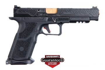 "ZEV TECHNOLOGIES OZ9 COMPETITION PISTOL 9MM 5.31"" BRONZE BARREL W/ FIBER OPTIC 17RD"