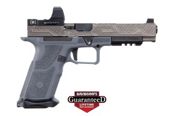 "ZEV TECHNOLOGIES OZ9 COMPETITION PISTOL 9MM 5.31"" BLACK BARREL W/ GRAY SLIDE"
