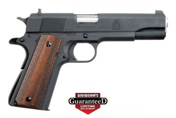 SPRINGFIELD ARMORY DEFENDER 1911-A1 MIL-SPEC 45AP W/ WOOD GRIPS