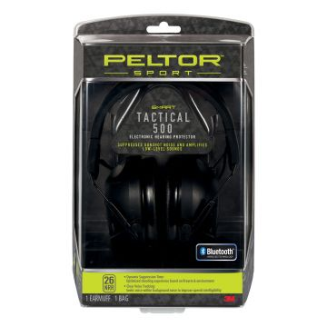 PELTOR SPORT TACTICAL ELECTRONIC EARMUFF 500 DIGITAL NRR26