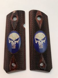 GOVERNMENT - FULL SIZE 1911 HANDGUN GRIP - PUNISHER BLUE