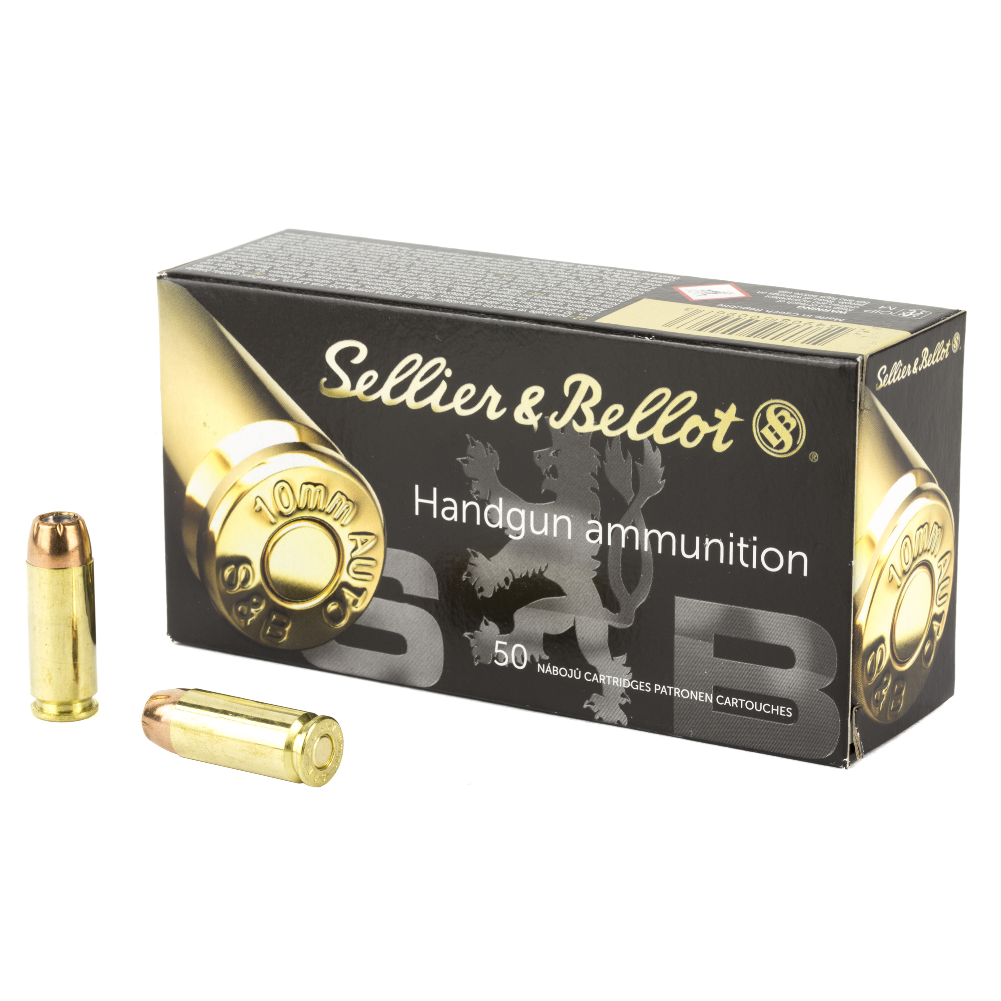 SELLIER & BELLOT 10MM 180GR JHP 50/1000 SELF DEFENSE