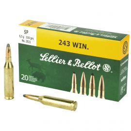 SELLIER & BELLOT 243 WIN 100 GRAIN SOFT POINT 20 ROUND BOX
