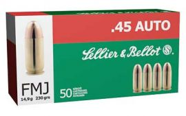 SELLIER AND BELLOT 45ACP 230GR FMJ 50/1000