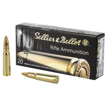 SELLIER & BELLOT 7.62X39 123 GRAIN FMJ 20 ROUND BOX