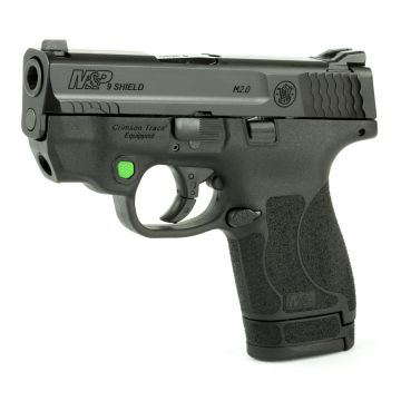 "S&W M&P SHIELD M2.0 COMPACT 9MM 3.1"" 7/8 RD 2 MAGS TS W/ CTC GREEN LASER"