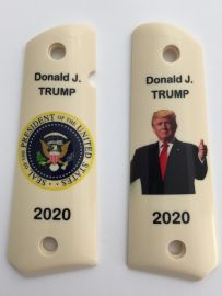 GOVERNMENT- FULL SIZE 1911 HANDGUN GRIPS - DONALD J. TRUMP 2020