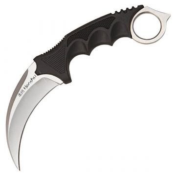 Honshu Karambit, Black Over-Molded Handle, SS Blade w/Sheath