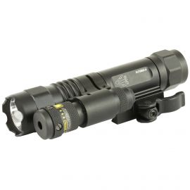 LEAPERS UTG FLASHLIGHT/RED LASER COMBO FOR RIFLE W/ QUICK DETACH MOUNT
