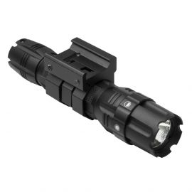 VISM NCSTAR PRO-SERIES GREEN LED HUNTER FLASHLIGHT WITH STROBE & MOUNT 250 LUMEN