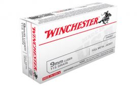 WINCHESTER USA 9MM 115GR FMJ 50/500