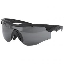 WILEY X ROGUE SUNGLASSES SMOKE GREY & CLEAR 2 LENS PKG BLACK MATTE