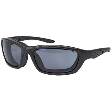 WILEY X BRICK SUNGLASSES MATTE BLACK OPS FRAME W/ SMOKE GREY LENS