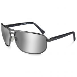 WILEY X HAYDEN SILVER FLASH DARK GUNMETAL FRAME SUNGLASSES POLARIZED