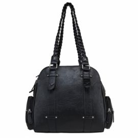 VISM SHOULDER BAG WITH BRAIDED HANDLES