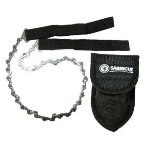 ULTIMATE SURVIVAL TECHNOLOGIES SABERCUT CHAIN SAW PRO /w POUCH HAND OPERATED