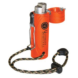 ULTIMATE SURVIVAL TECHNOLOGIES TREKKER STORMPROOF LIGHTER ORANGE
