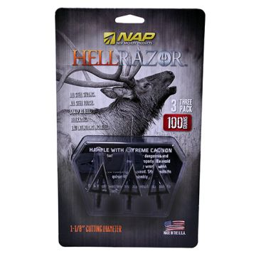 NEW ARCHERY PRODUCTS FIXED BROADHEAD HELLRAZOR, 3 BLADES, 100 GRAINS 3 PER