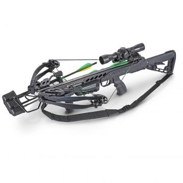 SA SPORTS EMPIRE AGGRESSOR COMPOUND CROSSBOW 390 W/SCOPE/FORE GRIP/SLING