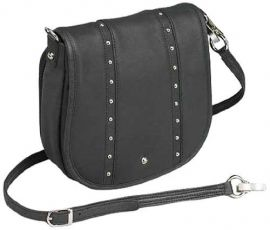 CONCEAL CARRY SIMPLE BLING LEATHER HANDBAG