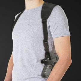 Ace Single Horizontal Shoulder Holster w/Harness (Fits Glock 19 & Similar Size Guns)