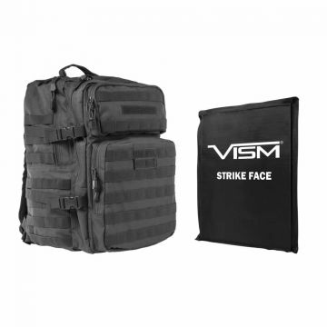 "VISM 2974 ASSAULT BACKPACK W/ BALLISTIC SOFT PANEL ARMOR LEVEL IIIA 11""X14"" (Color: Urban Gray)"